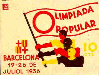 Cartel de la Olimpiada Popular de 1936