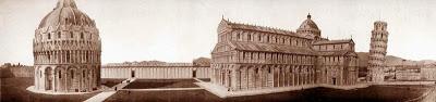 El baptisterio, el duomo, el camposanto y el campanile de Pisa