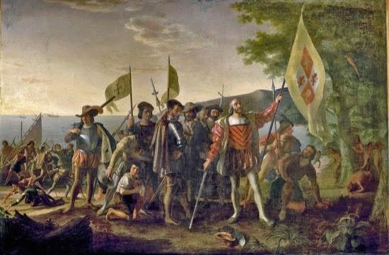 Llegada de Cristóbal Colón a las Indias Occidentales, por John Vanderlyn. 1847