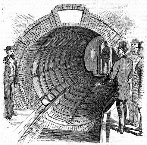Sistema subterráneo de transporte de Beach