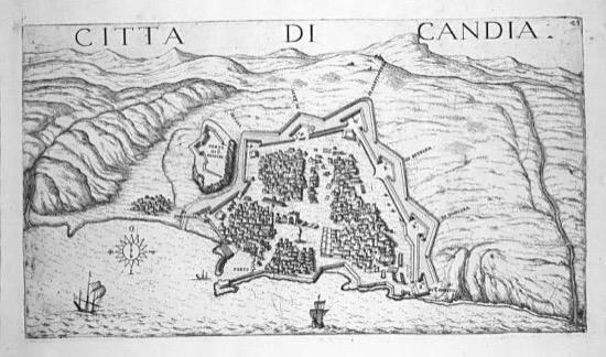 La ciudad de Candía y sus fortificaciones en 1651