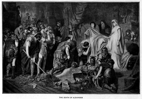 La muerte de Alejandro Magno, por Karl von Piloty