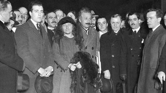 Einstein a su llegada a Madrid