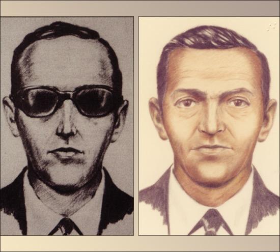 Retrato robot de D.B. Cooper en la página del FBI