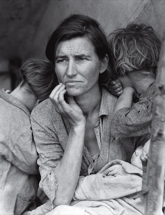 Madre emigrante. Foto de Dorothea Lange (1936)