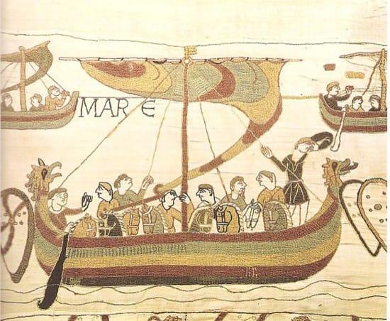 Drakkar en el Tapiz de Bayeux