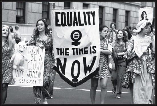 Protesta feminista en Nueva York en 1971