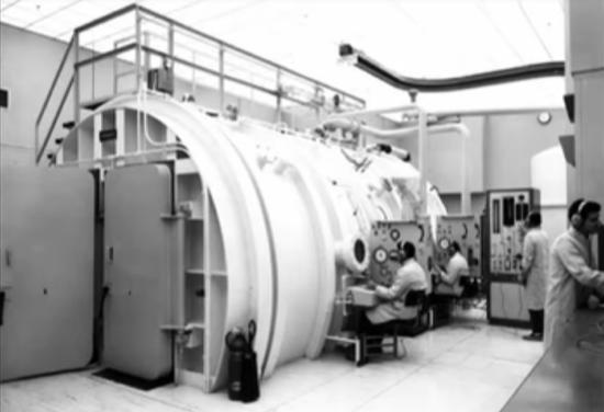 Instalaciones de la NASA donde se llevaban a cabo las pruebas