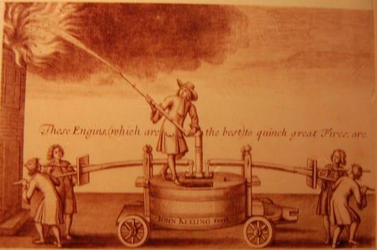 Luchando contra el fuego en el siglo XVII