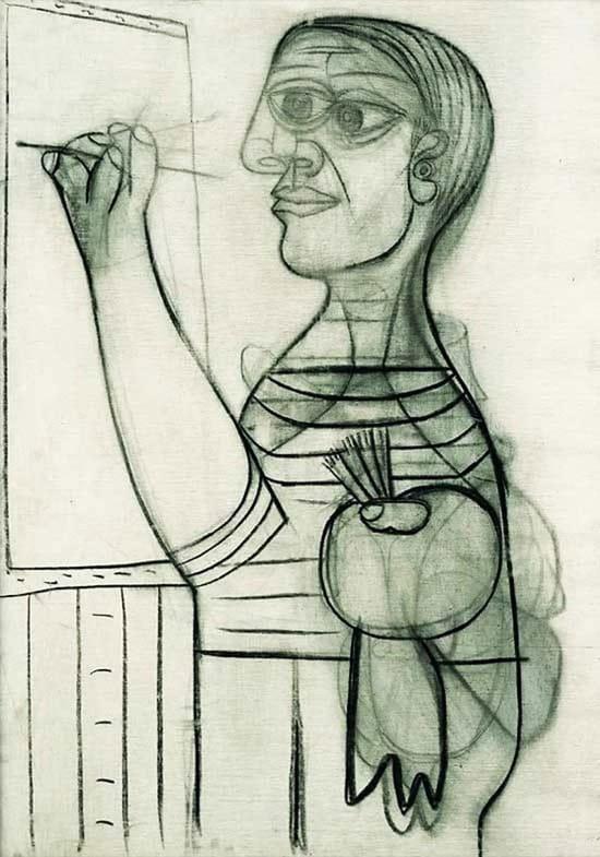 Autorretrato de Picasso en 1938, con 56 años