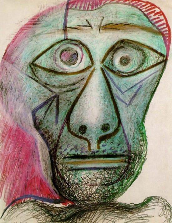 Autorretrato de Picasso en 1972, con 90 años (30 de junio)