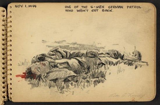 Uno de los 4 hombres de una patrulla alemana que no volvieron