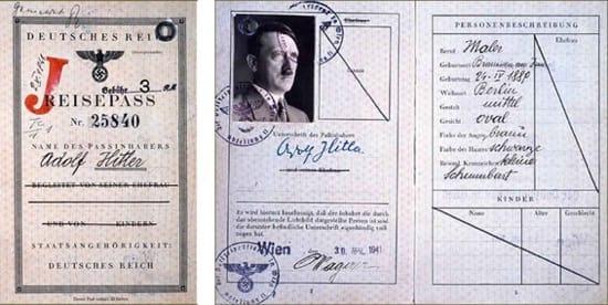 El pasaporte de Hitler que hizo el SOE donde se decía que era judío
