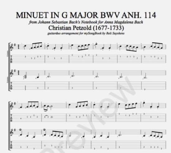 El Minueto en sol mayor de Bach es en realidad de Christian Petzold