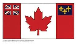 Propuesta de bandera para Canadá con la flor de Lis y la Union Jack