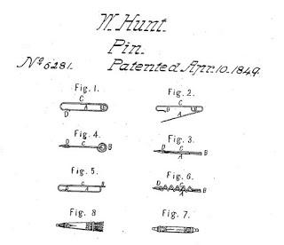 Walter Hunt, el inventor del imperdible