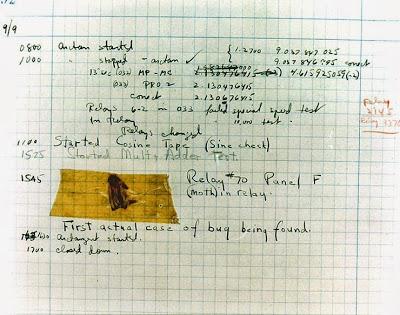 El primer bug informático de la historia