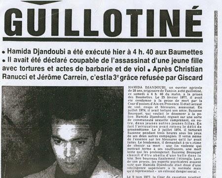 La guillotina en Francia, de 1792 a 1977