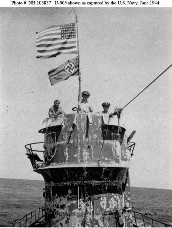 El U 505, el submarino alemán de los estadounidenses