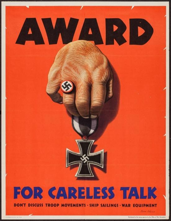 Carteles de propaganda sobre lo bueno del silencio