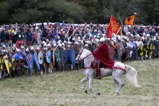 Imágenes de la recreación de la batalla de Hastings