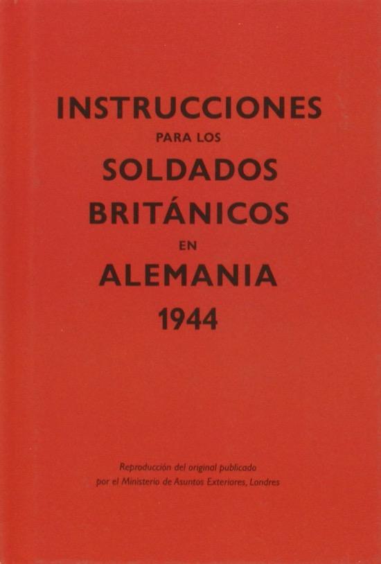 Recomendaciones para británicos en Alemania en la Segunda Guerra Mundial
