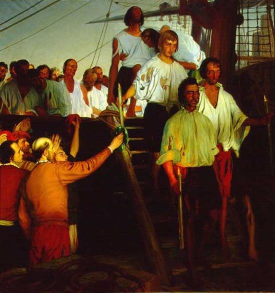 Elcano tiene en su escudo la esencia de la vuelta al mundo