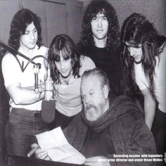 Orson Welles y Christopher Lee grabaron con el grupo heavy Manowar
