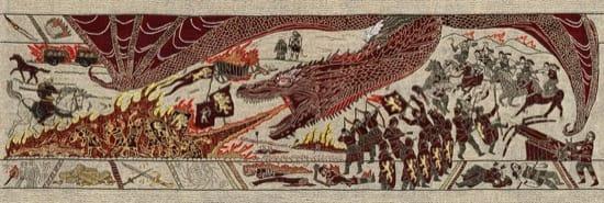 Juego de Tronos en un tapiz como el de Bayeux