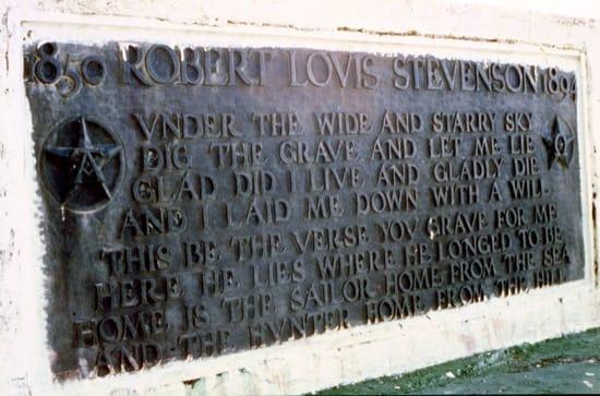 La tumba de Robert Louis Stevenson