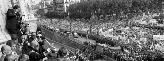 Las últimas palabras de Franco en público