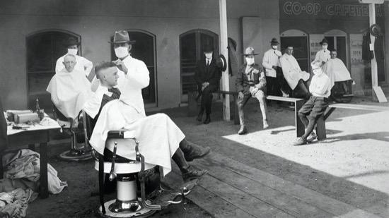 Cómo se luchó contra la gripe española - barbería