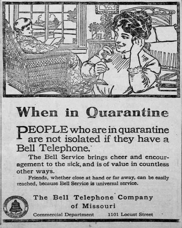 Anuncio de Bell sobre el teléfono y la cuarentena
