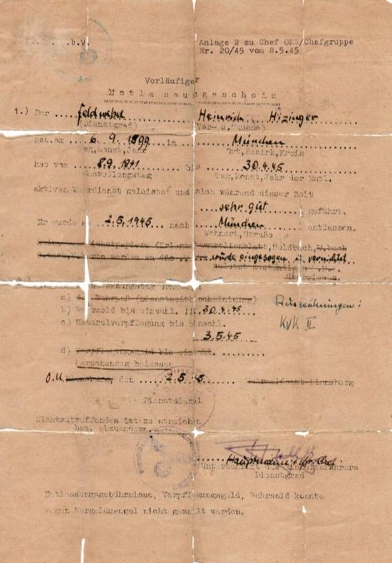 Identificación falsa de Himmler