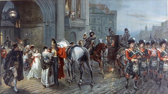 Convocados para Waterloo, de Robert Alexander Hillingford (1904)