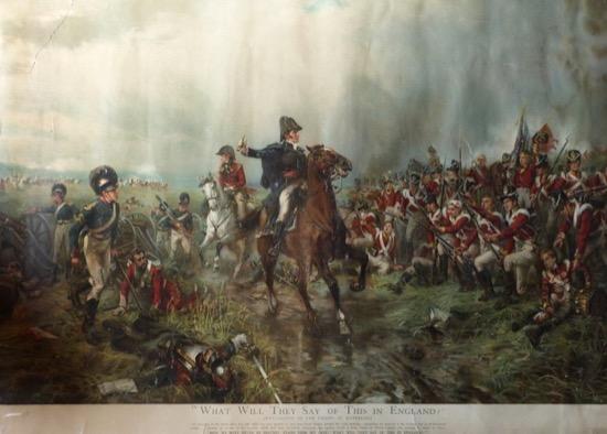 El duque de Wellington en Waterloo, de Robert Alexander Hillingford (1840)