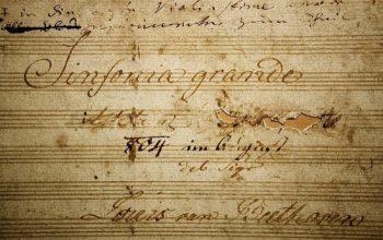 Partitura de la Heroica después de borrar a Napoleón