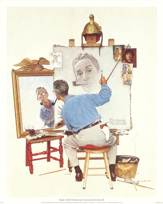 El tripe autorretrato de Rockwell