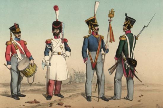 Estatura mínima para ser soldado español a lo largo de la historia