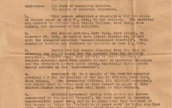 La divertida carta del submarino al que no le enviaron papel higiénico en 1941