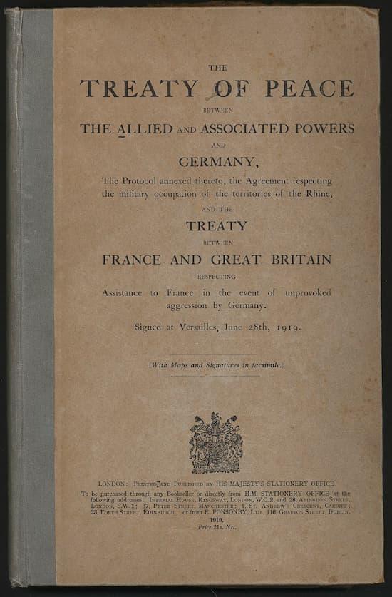 La impresionante extensión del Tratado de Versalles