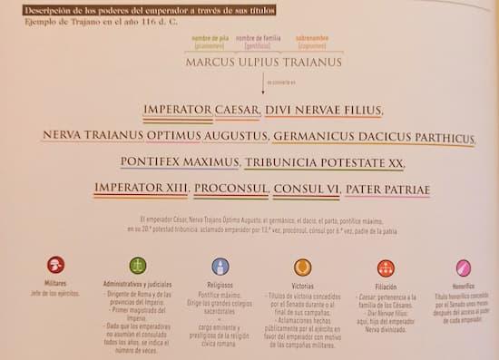 Infografías de la Antigua Roma - Títulos